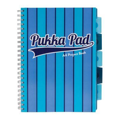 Spirálfüzet PUKKA PAD Vogue regiszteres A/4 100 lapos vonalas kék