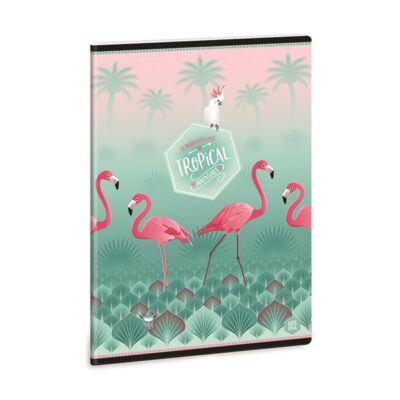 Füzet ARS UNA A/5 40 lapos Extra kapcsos vonalas Pink Flamingo 2