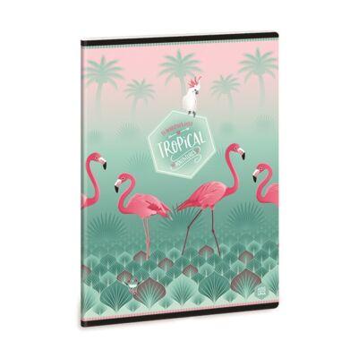 Füzet ARS UNA A/5 40 lapos Extra kapcsos sima Pink Flamingo 2