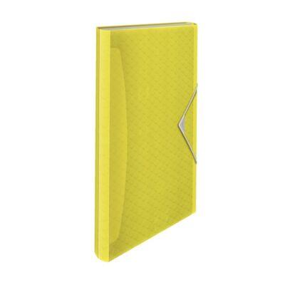 Harmónika mappa ESSELTE Colour`Ice A/4 PP 6 rekeszes sárga