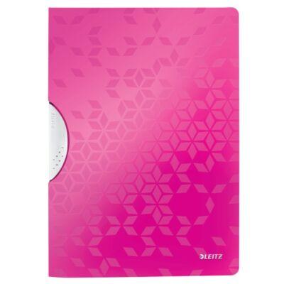 Gyorsfűző LEITZ Wow Colorclip A/4 rózsaszín