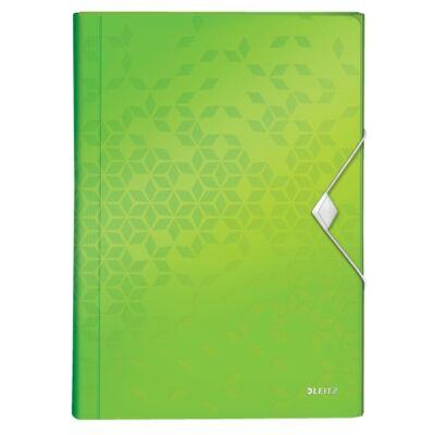 Harmónika mappa LEITZ Wow A/4 6 műanyag rekeszes zöld
