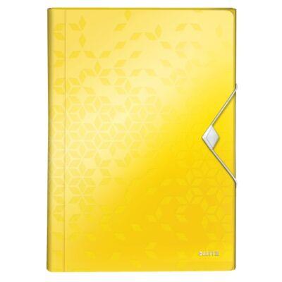 Harmónika mappa LEITZ Wow A/4 6 műanyag rekeszes sárga
