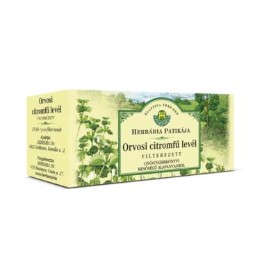 Herbatea HERBÁRIA orvosi citromfű levél 25x1g