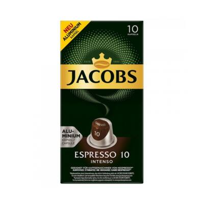 Kávékapszula JACOBS Nespresso Espresso Intenso 52g 10 darab/doboz