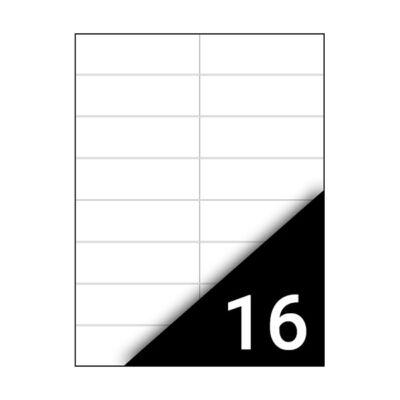 Etikett FORTUNA 105x37mm univerzális 1600 címke/doboz 100 ív/doboz