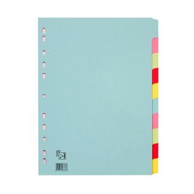 Regiszter SPOKO A/4 karton 2x5 szín