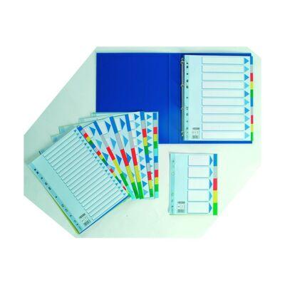 Regiszter ESSELTE A/4 műanyag maxi 10 részes