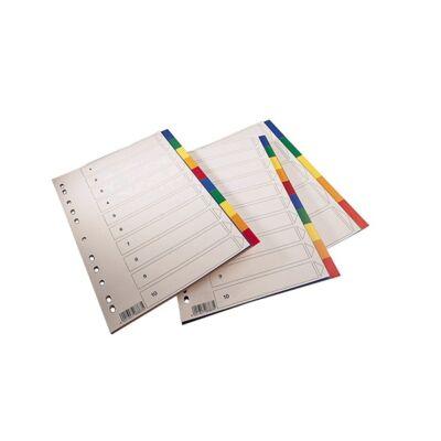 Regiszter SPOKO A/4 műanyag 10 részes