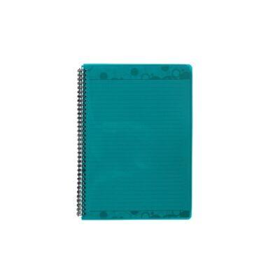 Spirálfüzet ELECTRA A/4 PP borító 70 lapos zöld