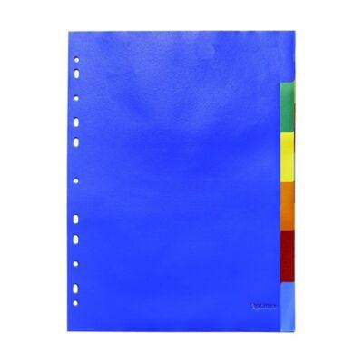 Regiszter OPTIMA A/4 színes műanyag 6 részes