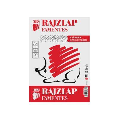 Rajzlap ICO Süni A/4 120 gr famentes 20 ív/csomag