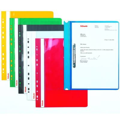 Gyorsfűző ESSELTE lefűzhető piros 10 db/csomag