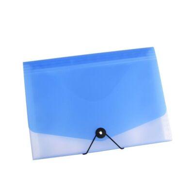 Harmonika mappa OPALINE 13 részes gumis kék