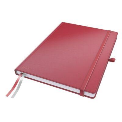 Jegyzetfüzet LEITZ Complete A/4 80 lapos kockás piros