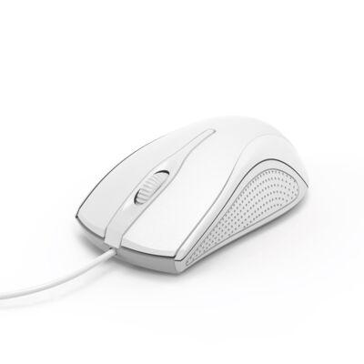 Egér vezetékes HAMA MC-200 USB 1200 DPI fehér