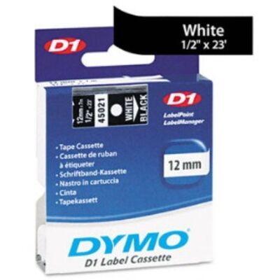 Feliratozó szalag DYMO 12mmx7m fehér feketén