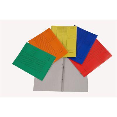 Gyorsfűző CLARISSA papír piros