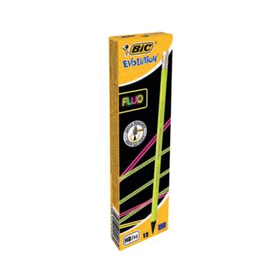 Grafitceruza BIC Eco Evolution 655 HB hatszögletű fluo radíros