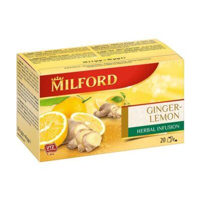 Gyümölcstea MILFORD gyömbér-citrom 20x2g