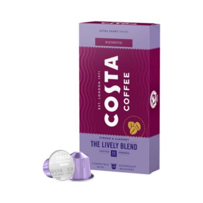Kávékapszula COSTA Nespresso The Lively Blend 10 kapszula/doboz
